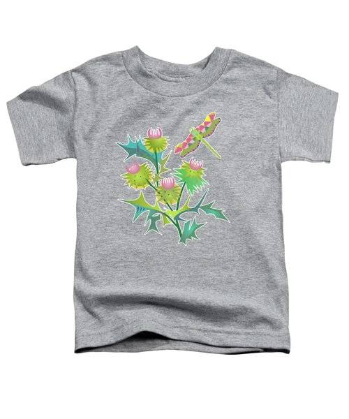 Floral Pattern With Thistle Toddler T-Shirt