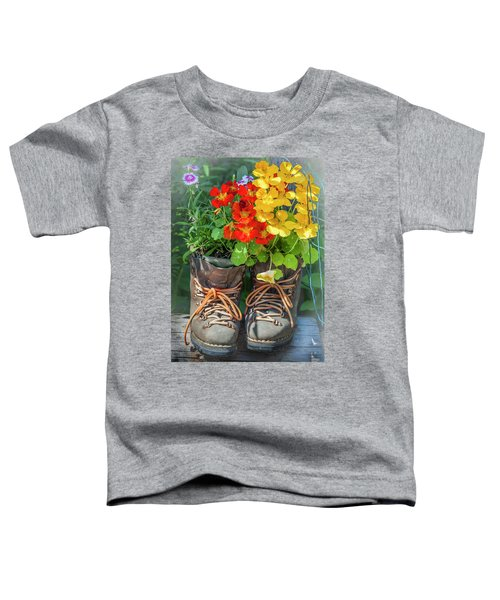 Flower Boots Toddler T-Shirt