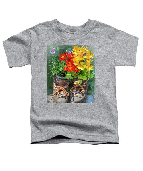 Flower Boots Toddler T-Shirt