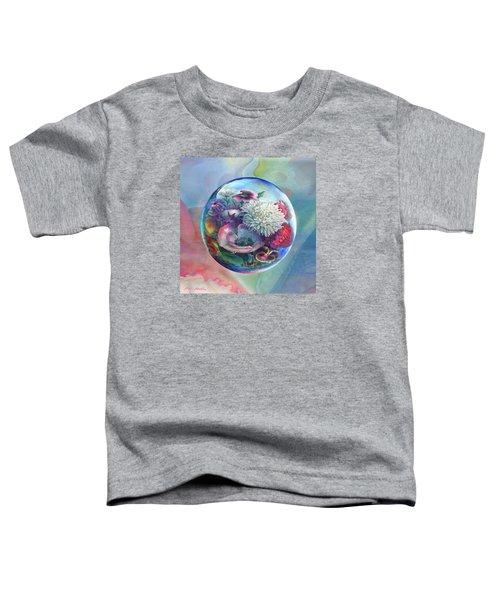 Flower Drop Blues Toddler T-Shirt