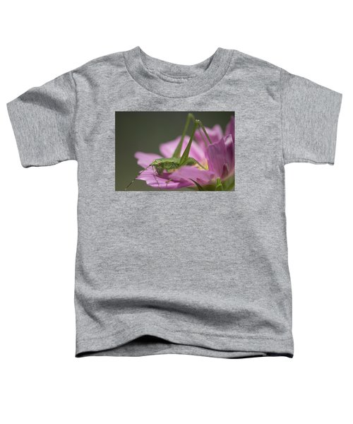 Flower Hopper Toddler T-Shirt by Michael Eingle