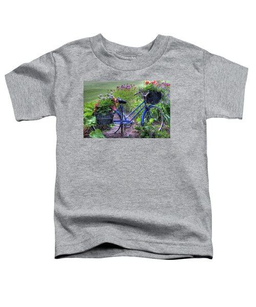 Flowered Bicycle Toddler T-Shirt