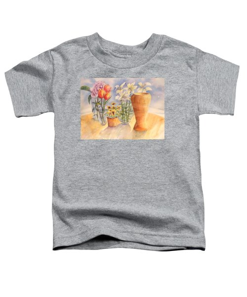 Flowers And Terra Cotta Toddler T-Shirt