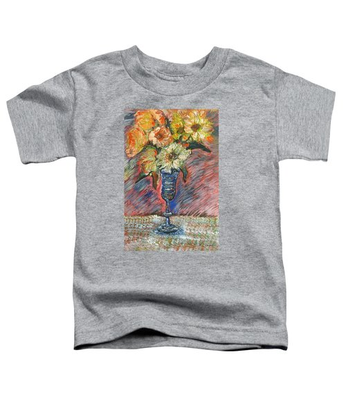 Flowers In Wine Glass Toddler T-Shirt