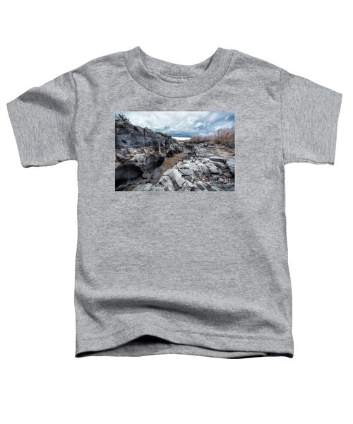 Flowing To The Storm Idaho Journey Landscape Art By Kaylyn Franks Toddler T-Shirt