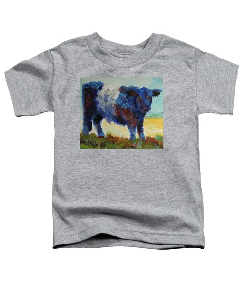 Fluffy Shaggy Belted Galloway Cow - Cow With A White Stripe Toddler T-Shirt