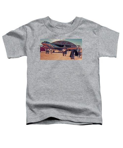 Fly Twa The Lindberg Line By Henry Bosis Toddler T-Shirt
