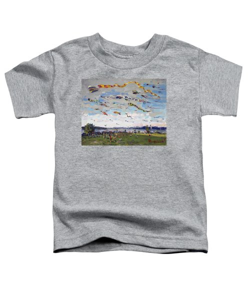 Flying Kites Over Gratwick Park Toddler T-Shirt