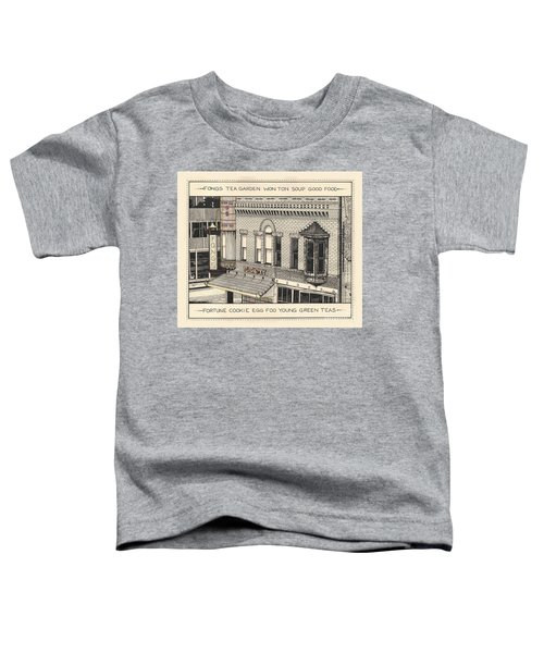 Toddler T-Shirt featuring the drawing Fongs Tea Garden by Chholing Taha