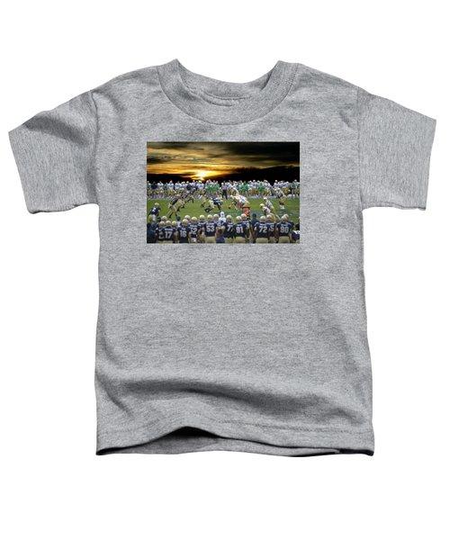 Football Field-notre Dame-navy Toddler T-Shirt