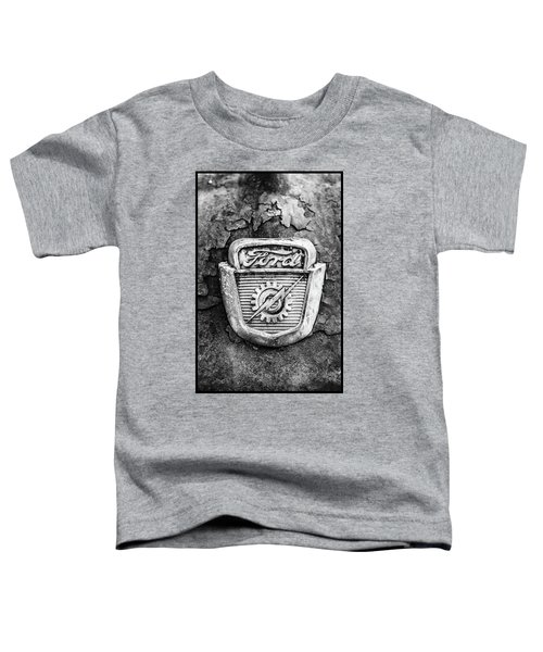 Ford Emblem On A Rusted Hood Verticle Toddler T-Shirt