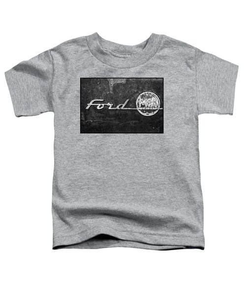 Ford F-100 Emblem On A Rusted Hood Toddler T-Shirt