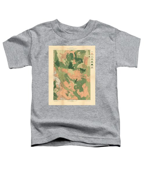 Forest Cover Map 1886-87 - Oregon Klamath Quadrangle - Geological Map Toddler T-Shirt
