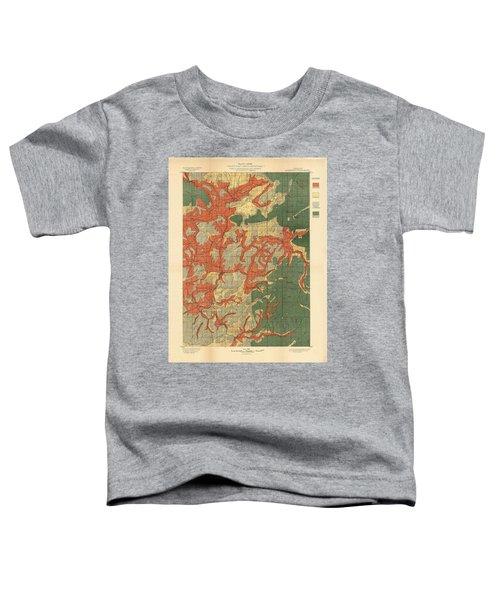 Forest Cover Map 1886-87 - Roseburg Quadrangle - Oregon - Geological Map Toddler T-Shirt