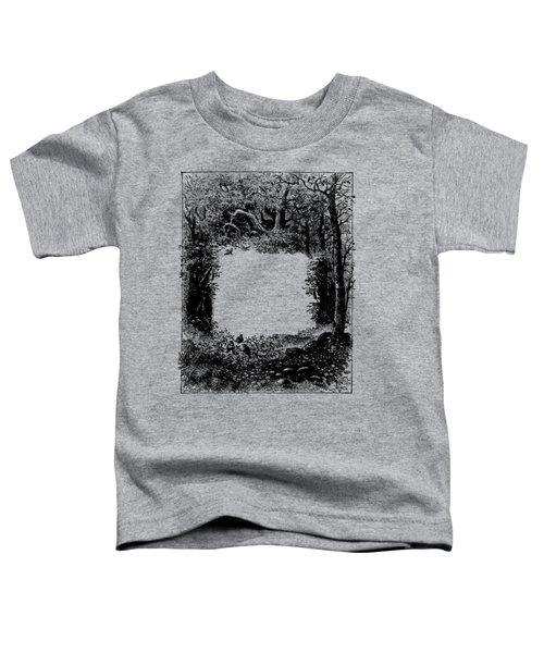 Forest Frame Dictionaryart Trees Ink Artwork  Toddler T-Shirt