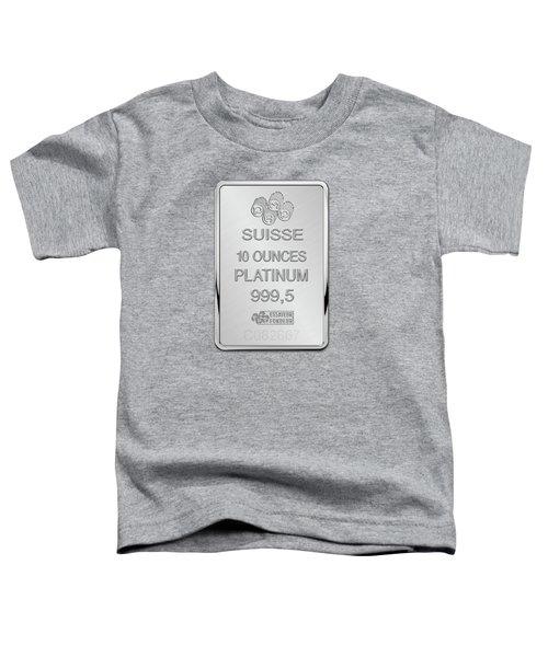 Fortuna Suisse Minted Platinum Bar - Reverse Toddler T-Shirt