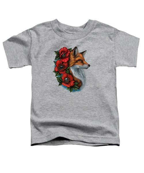 Fox And Poppies Toddler T-Shirt