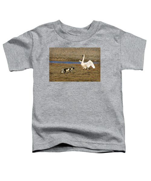 Fox Vs Tundra Swan Toddler T-Shirt