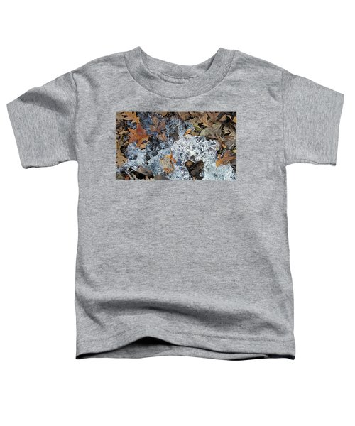 Fractured Ice Among Fall Leaves Toddler T-Shirt