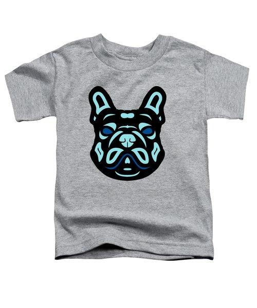 French Bulldog Francis - Dog Design - Hazelnut, Island Paradise, Lapis Blue Toddler T-Shirt