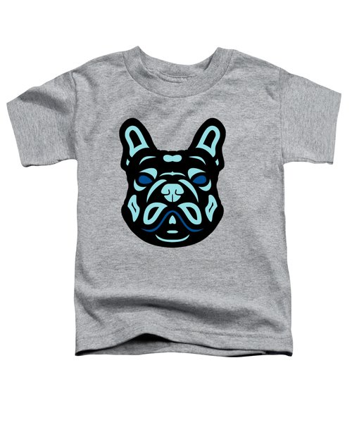 French Bulldog Francis - Dog Design - Hazelnut, Island Paradise, Lapis Blue Toddler T-Shirt