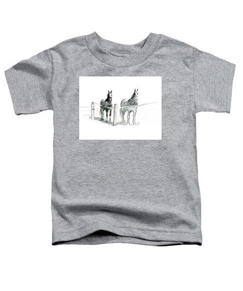 Friesian Horses Toddler T-Shirt