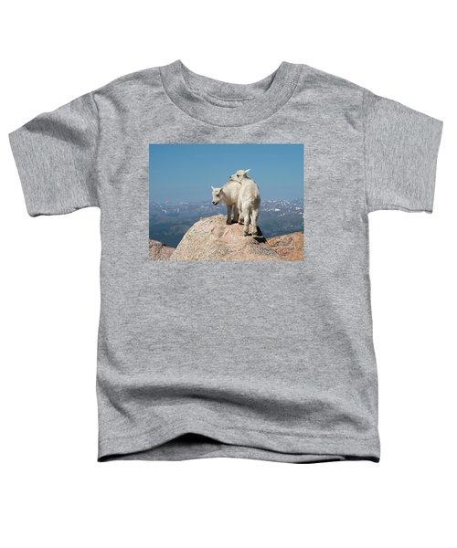 Frisky Mountain Goat Babies Toddler T-Shirt
