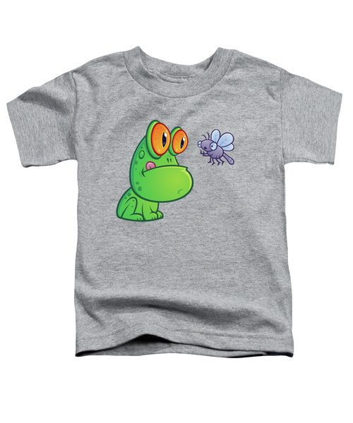 Frog And Dragonfly Toddler T-Shirt by John Schwegel