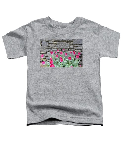 Fuchsia Color Tulips Toddler T-Shirt
