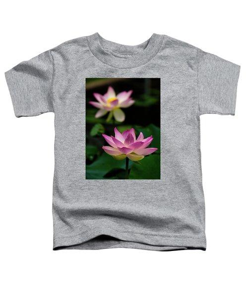 Full Blooming Dual Lotus Lilies Toddler T-Shirt