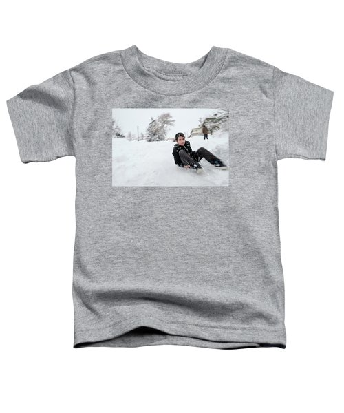 Fun On Snow-1 Toddler T-Shirt