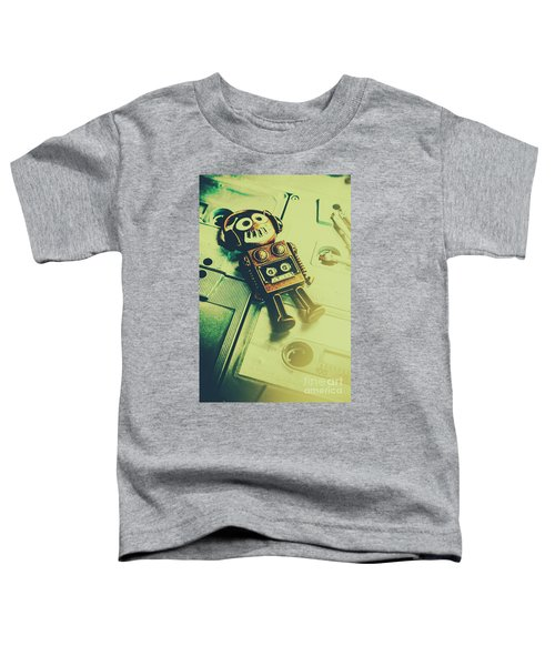 Funky Mixtape Robot Toddler T-Shirt