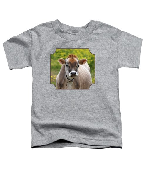 Funny Jersey Cow - Horizontal Toddler T-Shirt by Gill Billington