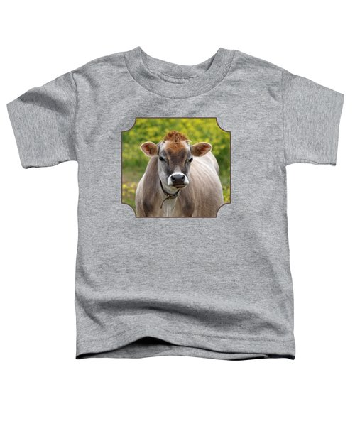 Funny Jersey Cow - Horizontal Toddler T-Shirt