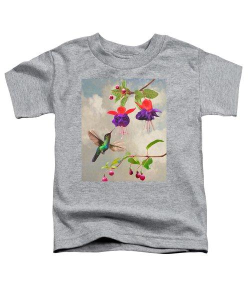 Fuchsia And Hummingbird Toddler T-Shirt