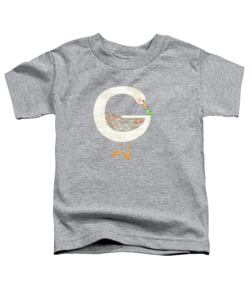 G Is For Goose And Grasshopper Toddler T-Shirt by Valerie Drake Lesiak