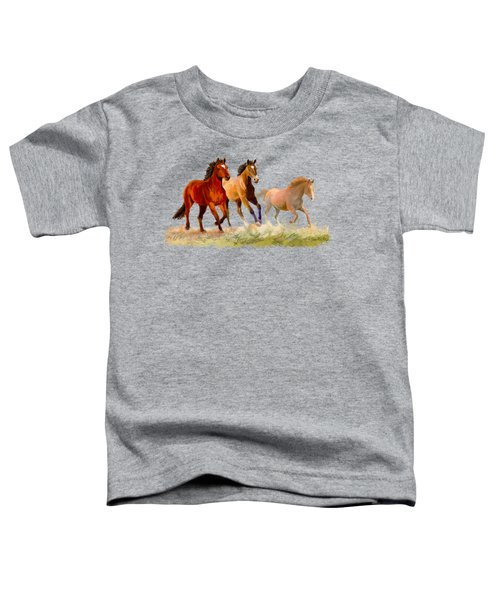 Galloping Horses Toddler T-Shirt