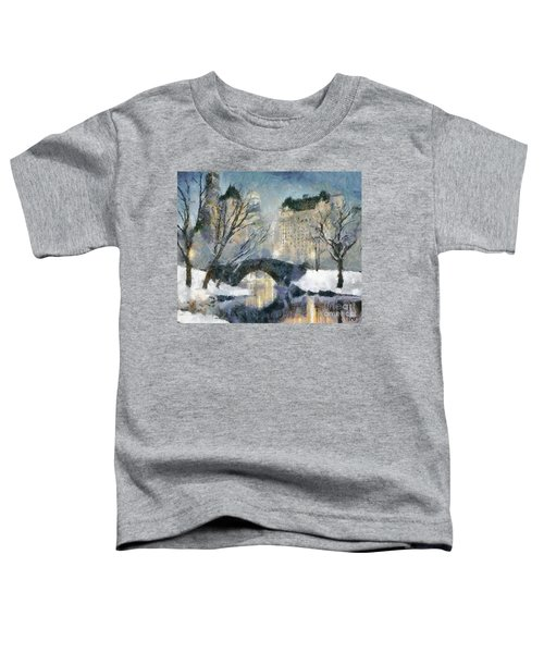 Gapstow Bridge In Snow Toddler T-Shirt