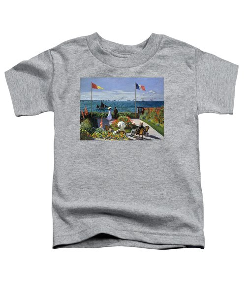 Garden At Sainte Adresse By Claude Monet Toddler T-Shirt
