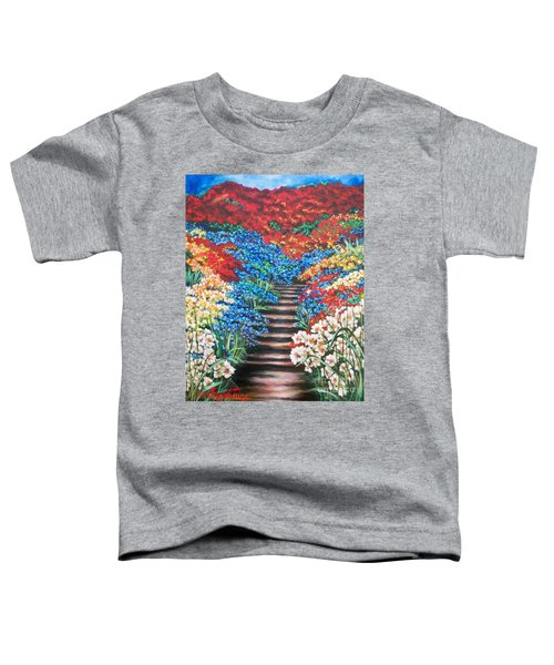 Red White And Blue Garden Cascade.               Flying Lamb Productions  Toddler T-Shirt