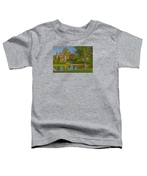 Garden Fountain At Ames Free Library Toddler T-Shirt