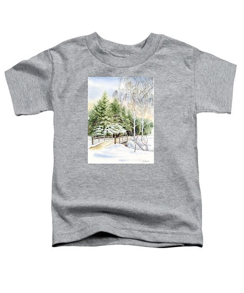 Garden Landscape Winter Toddler T-Shirt