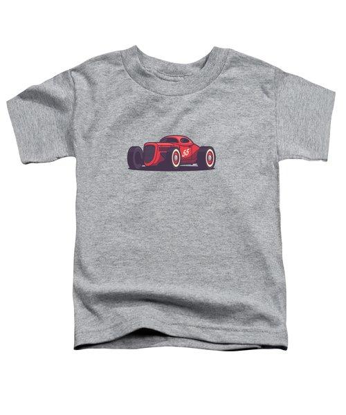 Gaz Gl1 Custom Vintage Hot Rod Classic Street Racer Car - Red Toddler T-Shirt