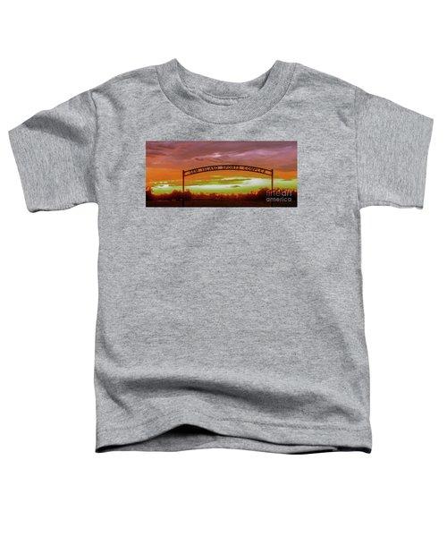 Gem Island Sports Complex Toddler T-Shirt by Robert Bales