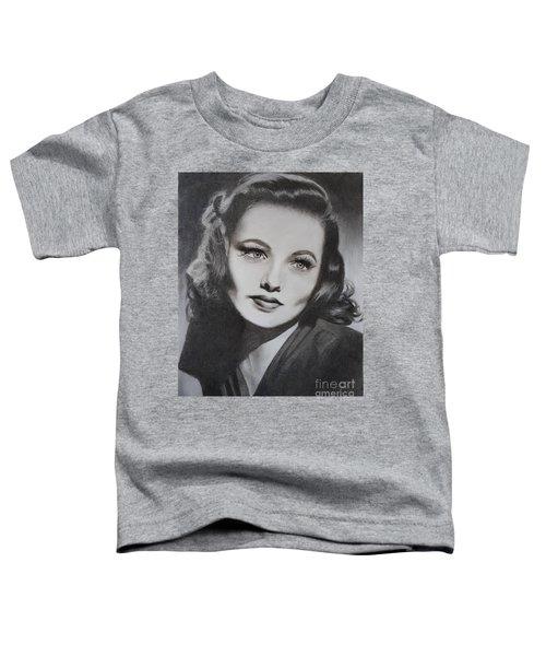 Gene Tierney  Toddler T-Shirt