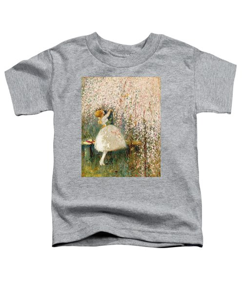 Georges Picard French 1857 1946 Romance Under The Blossom Tree Toddler T-Shirt