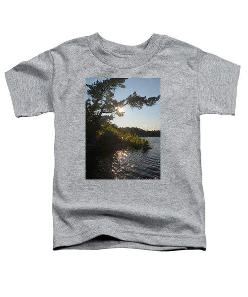 Georgian Bay Sunset Tree Toddler T-Shirt