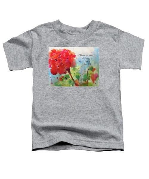 Geranium Praises Toddler T-Shirt