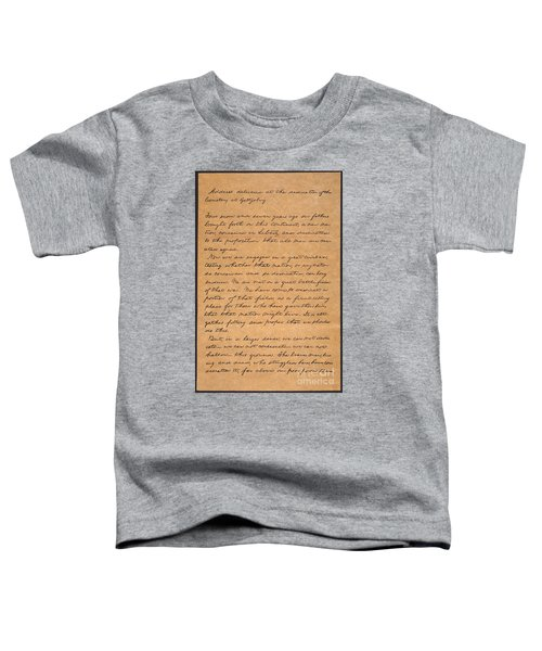 Gettysburg Address Toddler T-Shirt
