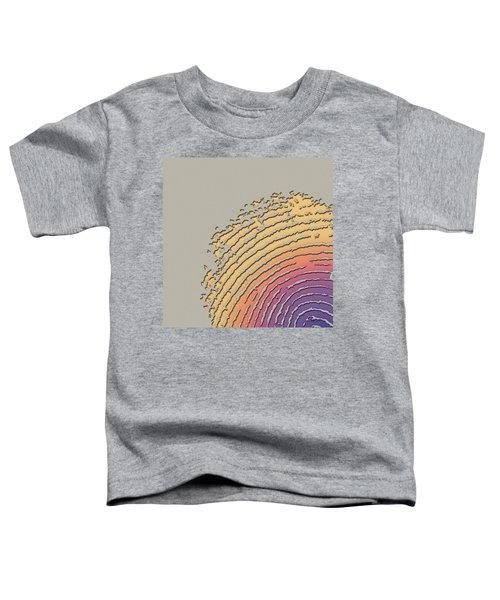 Giant Iridescent Fingerprint On Beige Toddler T-Shirt
